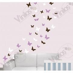 Infantiles Niña 08 - 38 Mariposas en 3 Colores. Cubre hasta 2 metros cuadrados