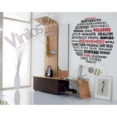 Frases Bienvenido - 115 cm x 115 cm (2 Colores a elegir)