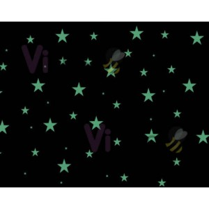 Brilla en lo Oscuro 03 - 10 Piezas en 1 metro cuadrado (Abarca hasta 2 m2 de pared)