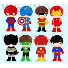 Super Heroes 02 -  Precio por CADA Super Heroe - 55 cm x 80 cm (Silueta recortada, Impresión en HD)