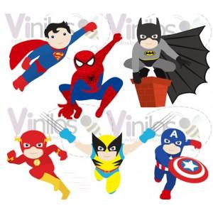 Super Heroes 04 -  Precio por CADA Super Heroe - 55 cm x 80 cm (Silueta recortada, Impresión en HD)