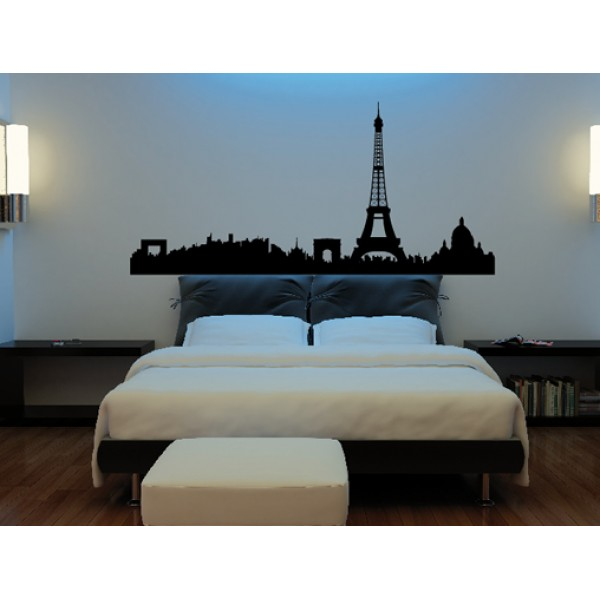 Skylines 07 55 cm x 115 cm outlet solo negro mate for Vinilos decorativos recamaras