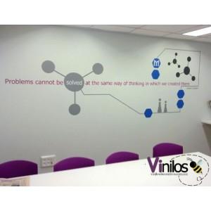 Vinil en Paredes de Oficinas (Solicita tu cotización al correo informes@vinilosdecorativos.com.mx)
